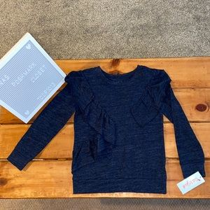 🎸Cat and Jack Blue Ruffle Top